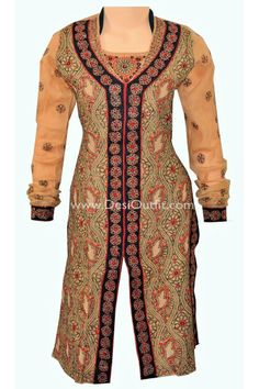 Designer Rust Colour ##chikankari #Kurti