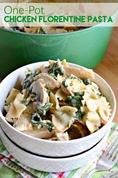 Good food recipes » Chicken florentine pesto pasta recipe