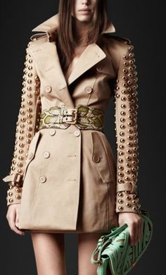 Burberry Studded Trench!