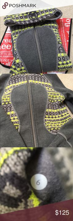 Lululemon Special Edition Sweater Scuba Hoodie Lululemon Special Edition Scuba Hoodie. Size 6. Sweater material/pattern. Great condition and hard to find. lululemon athletica Tops Sweatshirts & Hoodies