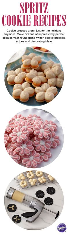 Spritz cookies are quite popular during the Christmas season, but you can easily customize the color, flavor and shape of Spritz cookies for any holiday or celebration.