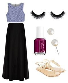 """""""Sandals+maxi skirts❤️~S"""" by sarahkelly-s ❤ liked on Polyvore featuring Rosie Assoulin, Alice + Olivia, Carolee, Essie, Accessorize, sandals and maxiskirts"""