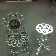 Metal Art - Chair and table Welding Crafts, Welding Art, Welding Projects, Craft Projects, Metal Yard Art, Scrap Metal Art, Metal Projects, Metal Crafts, Iron Furniture