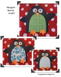 Cute Penguin Craft....are U a penguin? Use the letter U for kindergarten drawing skills.
