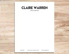 letterhead template for word personalized business letterhead