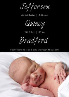 baby birth announcement name meaning by ptwatersdesigns on etsy
