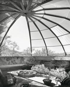 "julius schulman Woods Residence (""The Dome House"") by Soleri & Mills, Cave Creek, Arizona, 1950"