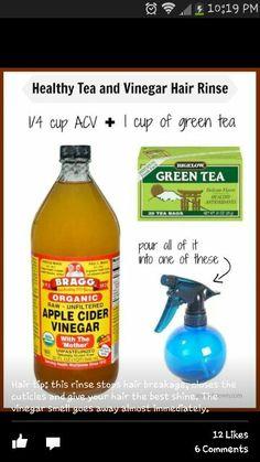 Tea and vinegar rinse