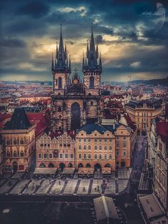 Above Prague by Kate L.A. on 500px