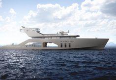 Il concept per il mega yacht dello Studio norvegese Hareide Design capovolge l'idea di nave basata su un idea convenzionale del lusso.