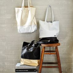 Baggu Leather Tote Bag | west elm