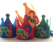 The Very Hungry Caterpillar Birthday Crowns - Hungry Caterpillar First Birthday - Party Decorations
