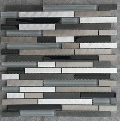 Grau Mosaik Fliesenspiegel