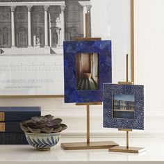 Each large brass easel is modern and lightweight for easy mobility. Display your favorite art with this hand-finished brass easel. Display Easel, Table Top Display, Home Decor Accessories, Decorative Accessories, Craftsman Home Interiors, Metal Easel, Traditional Furniture, E Design, Interior Design