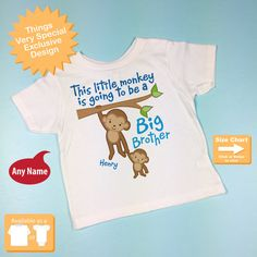 Boys' Clothing (2-16 Years) I'm going to be a Big Brother Birthday Present Childrens  T-shirt kids II