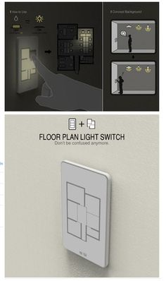 http://awesomeinspiration.net/post/28046211229/floor-plan-light-switch-have-you-ever-had-a http://www.designyourway.net/blog/inspiration/30-cool-high-tech-gadgets-to-give-your-home-a-futuristic-look/ Repinned by @keilonegordon