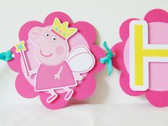Princess Fairy Peppa Pig Banner by DianasDen on Etsy https://www.etsy.com/listing/249602542/princess-fairy-peppa-pig-banner