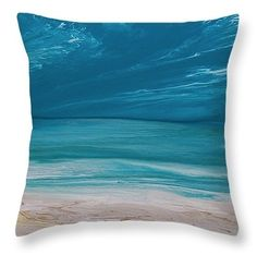 Days of Summer Blue pillow by  Coastal Living Art Acrylic ~  #beachpillow#coastalhomedecor#nauticaldecor#nauticalpillow#beachdecor#throwpillow#homedecor