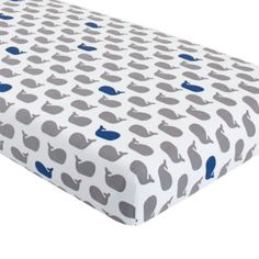 Crib Fitted Sheet (Blue Whale)