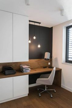 25 Modern Home Decoration Ideas with Simple Office Room . - 25 Modern Home Decoration Ideas with Simple Office Room … 25 Modern Home Decoration Ideas with Simple Office Room … Home Office Table, Home Office Furniture Sets, Home Office Space, Home Office Decor, Home Decor Furniture, Office Ideas, Office Decorations, Cabin Office, Ikea Office