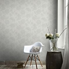 Graham & Brown 56 sq. ft. Oyster Mystique Wallpaper-33-335 - The Home Depot