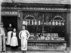 The Face of Shrewsburys Trade: Amazing Vintage Photographs Captured Shropshire Shop Fronts in 1888 - retro pin British Shop, Shop Fronts, Old Signs, Old London, Shop Logo, Victorian Era, Victorian Buildings, Victorian London, Vintage Photographs