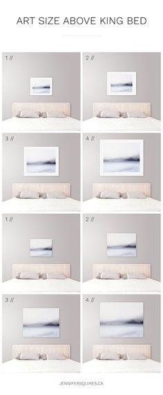 Ideal Art Size Above King Bed - Modern Coastal Bedroom Decor Tips