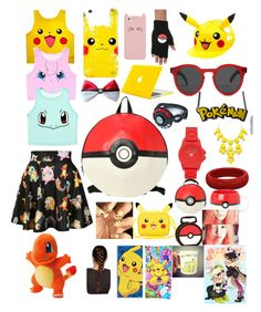 """""""Sorry there's not enough Pokemon..."""" by mitralyssa ❤ liked on Polyvore featuring O-Mighty, Kate Spade, Illesteva, Vince Camuto and RageOn"""