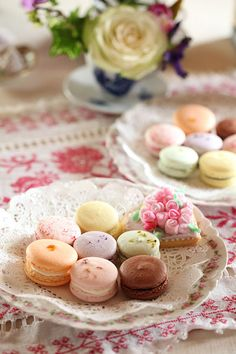 Macarons for a Shabby Tea Party