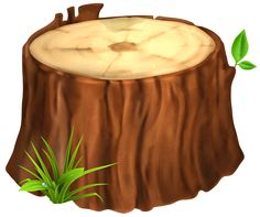 Tree Stump PNG Clipart Image
