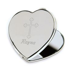 Inspirational Heart Compact Mirror with by RJsPersonalizedGifts