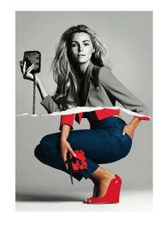 Etiqueta RoJa | Valentina Zelyaeva |  Gonzalo Machado #photography | Harper's Bazaar Spain April 2012 #mixed_media