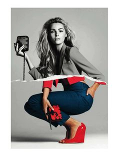 Etiqueta RoJa | Valentina Zelyaeva |  Gonzalo Machado #photography | Harper's Bazaar Spain April 2012 #mixed_media