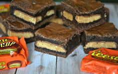 BROWNIES STUFFED WITH REESE'S PEANUT BUTTER CUPS!