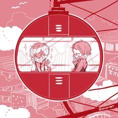 Atsushi and Akutagawa on a ferris wheel