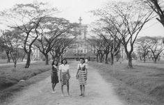 Photograph was in a photograph album of an aide to Gen. This original photo is in my personal collection Philippines Culture, Manila Philippines, San Miguel Beer, University Of Santo Tomas, Filipino Culture, Chinese Culture, Ancient Greek Architecture, Gothic Architecture, Philippine Holidays