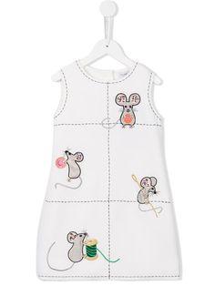 Dolce & Gabbana Kids Vestido com detalhes bordados