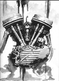 Awesome Harley Davidson photos are offered on our web pages. Moteurs Harley Davidson, Harley Davidson Engines, Harley Davidson Tattoos, Harley Davidson Motorcycles, Bike Tattoos, Motorcycle Tattoos, Motorcycle Art, Bike Art, Sleeve Tattoos
