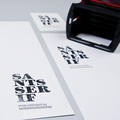 1423 SANTSSERIF sellos de caucho