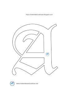 Moldes De Letras Gotica Mayusculas Y Minusculas Del Abecedario Moldes De Letras Letras Goticas Mayusculas Letra Gotica