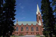 Free Image on Pixabay - Finnish, Mikkeli, Cathedral, Church Free Pictures, Free Images, Notre Dame, Cathedral, Mansions, House Styles, Building, Inspiration, Biblical Inspiration