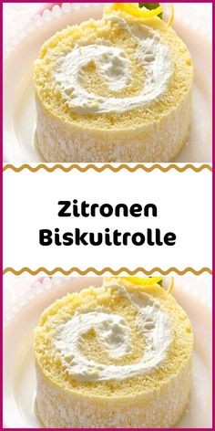 Zitronen BiskuitrolleIngredients For the dough 5 eggs 1 pinch (s) salt 100 g sugar 75 g flour 30 g starch 1 pinch of baking powder powdered sugar For the filling 5 sheets of gelatin 150 g natural yogurt 250 g low-fat curd cheese 1 organic lemon 150 Healthy Juice Recipes, Juicer Recipes, Lemon Sponge, Clean Eating Soup, Budget Freezer Meals, Italian Cookie Recipes, Eating Organic, Dessert Bread, No Calorie Foods