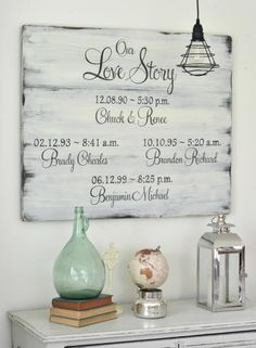 Love Story sign by Aimee Weaver Designs / Custom sign