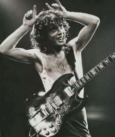 a Young Angus AC/DC