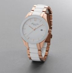 swoon - Kenneth Cole white/rose gold watch