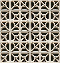 Cinderblock Fleur - Gray | designyourwall.com