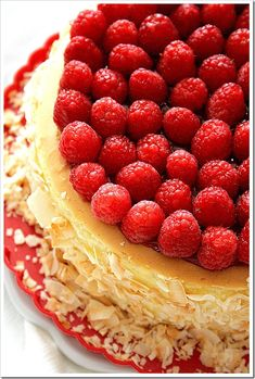 Toasted Coconut and Raspberry Cheesecake  | Doughmesstic