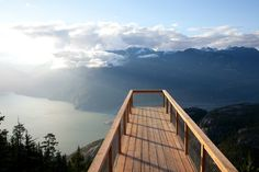 BEST place to get engaged. Chief Overlook Viewing Platform - Sea to Sky Gondola Website.  Squamish, BC Canada