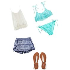 Bathing suit with a cover up