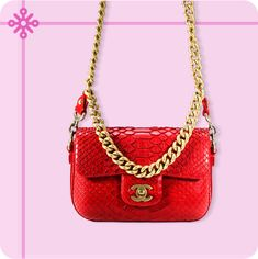 Festive and flashy, do we need to say more? Shoulder Handbags, Shoulder Bag, Nail Care Tips, Red Gold, Festive, Unique Gifts, Take That, Chanel, Holiday